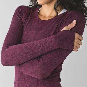 EUC Swiftly Long Sleeve Heathered Dashing Purple